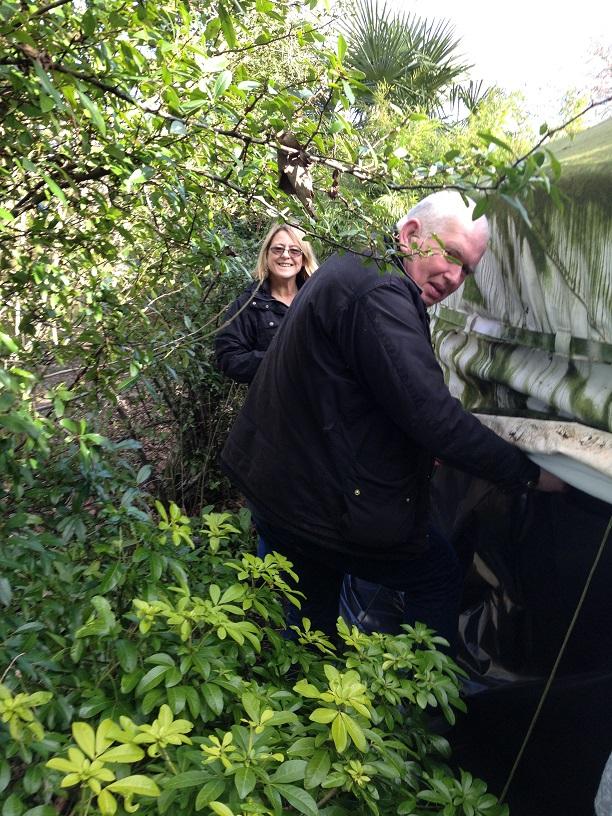 repairing the yurt 1