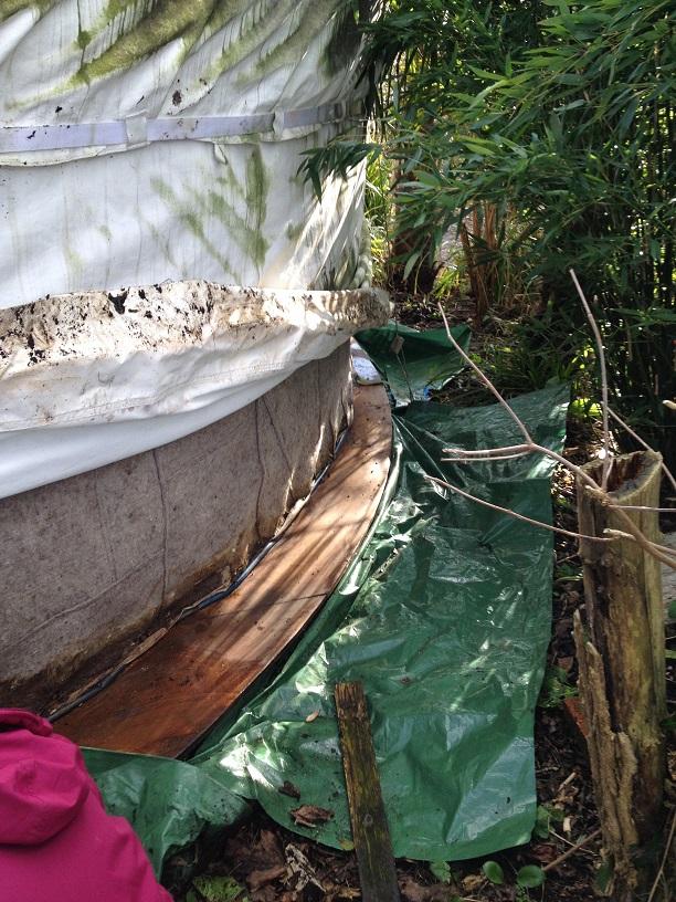 repairing the yurt 3